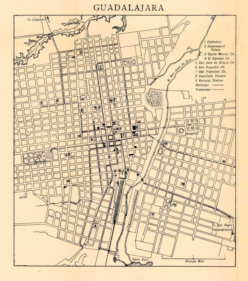 Mapas de México, año de 1919: Guadalajara. Guadal10