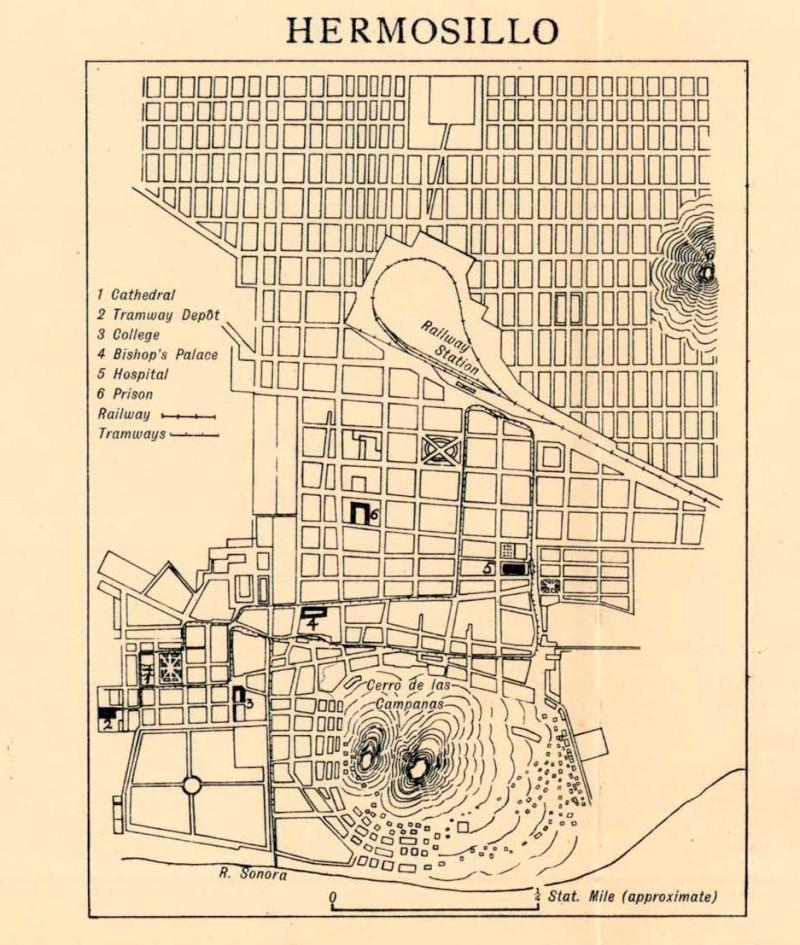 Mapas de México, año de 1919: Hermosillo. Hermos10