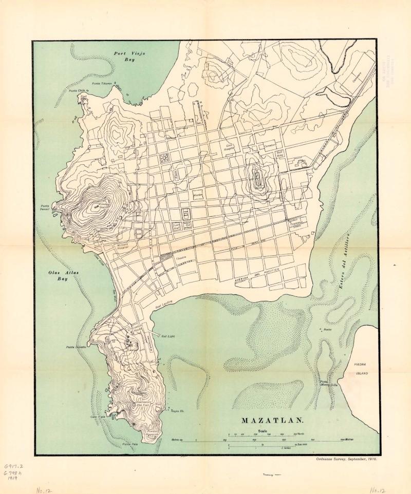 Mapas de México, año de 1919: Mazatlán. Mazatl10
