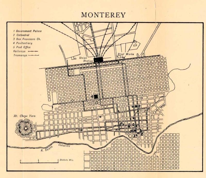 Mapas de México, año de 1919: Monterrey. Monter10