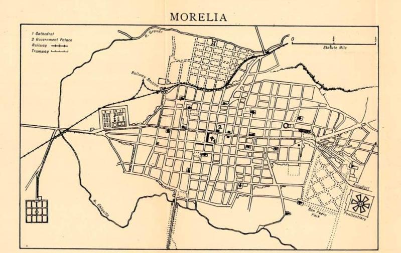 Mapas de México, año de 1919: Morelia. Moreli10