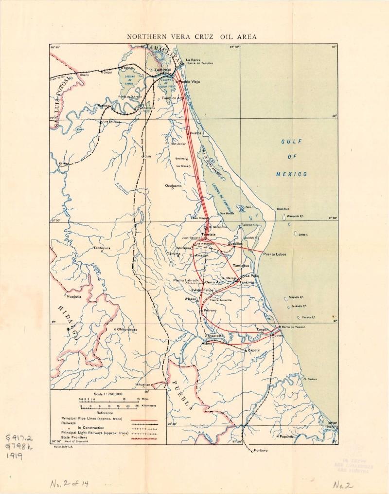 Mapas de México, año de 1919: Norte de Veracruz. Norte_10