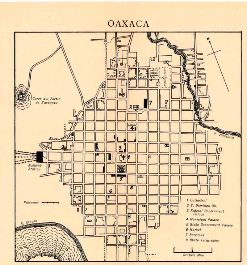 Mapas de México, año de 1919: Oaxaca. Oaxaca10