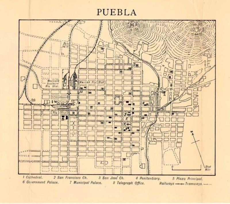 Mapas de México, año de 1919: Puebla. Puebla10