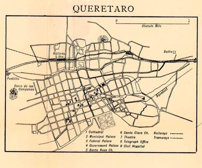 Mapas de México, año de 1919: Querétaro. Queret10