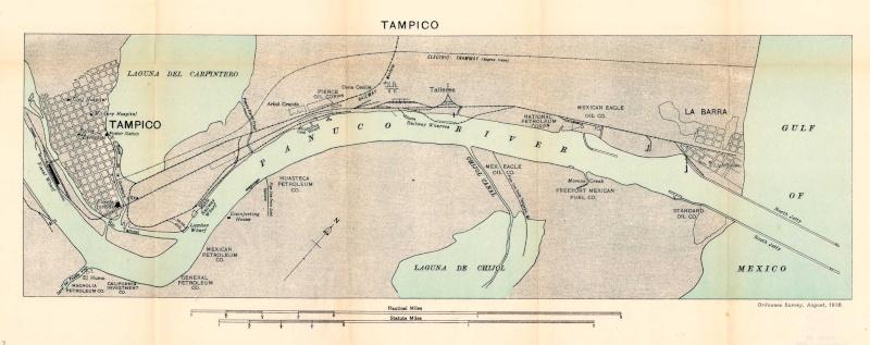 Mapas de México, año de 1919: Tampico. Tampic10