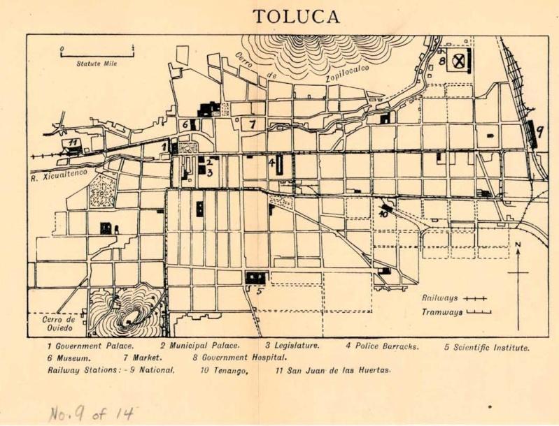 Mapas de México, año de 1919: Toluca. Toluca10