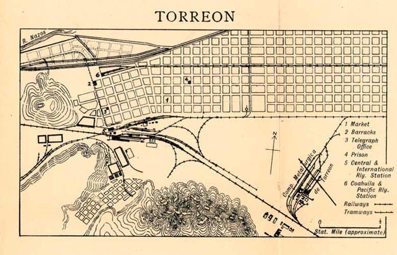 Mapas de México, año de 1919: Torreón. Torreo10