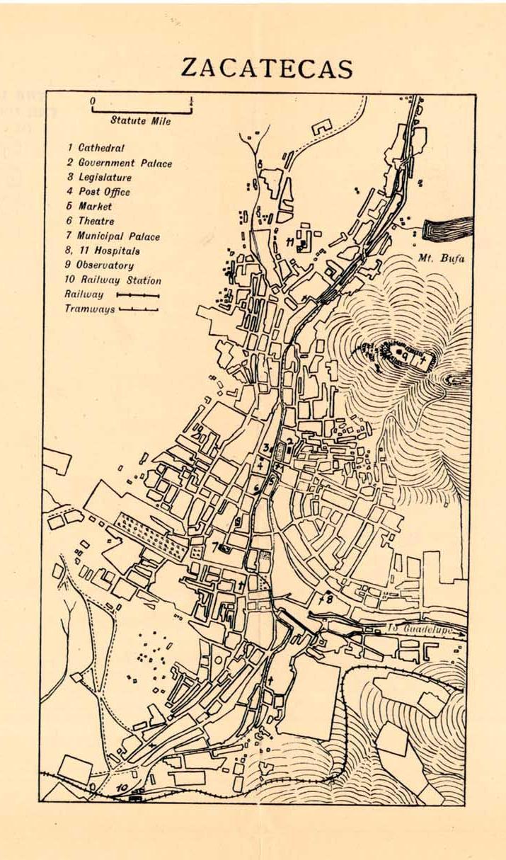 Mapas de México, año de 1919: Zacatecas. Zacate10