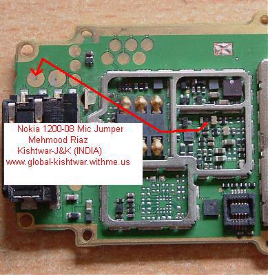 NOKIA 1200-1208 mic jumper 1200-011