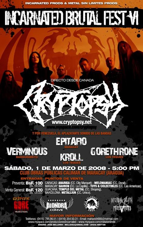CRYPTOPSY en Venezuela el 02 de Febrero 2008 (VZLA) 2008-011