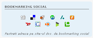 + Top postatori + Bookmarking social Bookma10