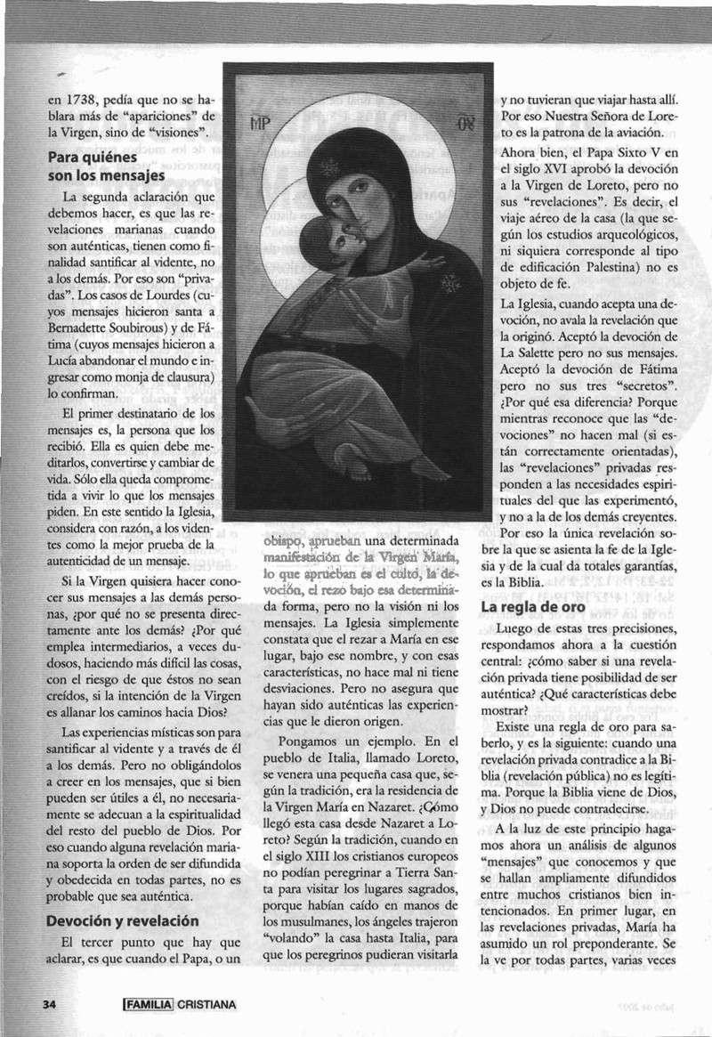 Mensaje de la Virgen en Talavera y relación con las psicos de BSP Virgen14