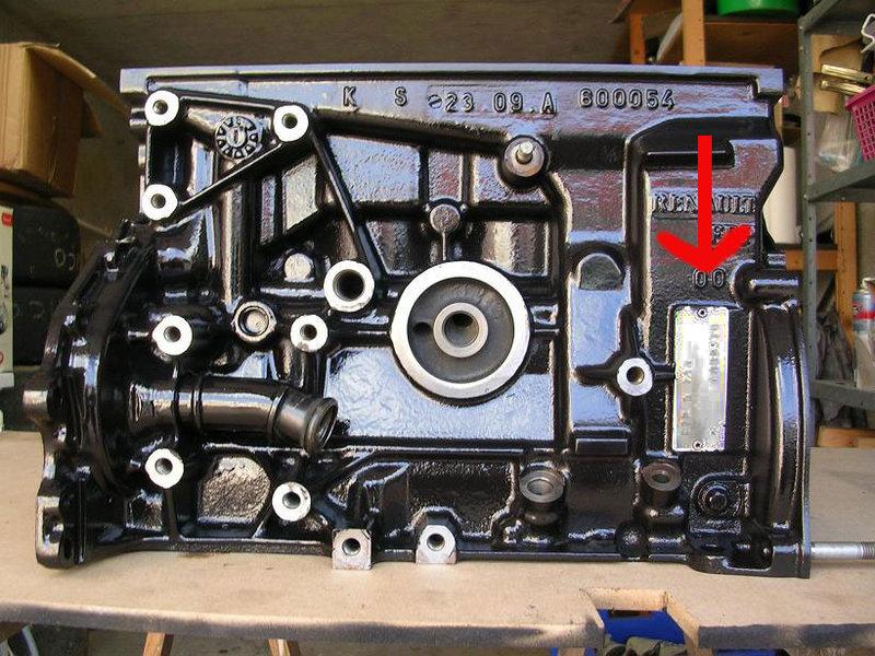 toutes renault savoir identifier son moteur et sa. Black Bedroom Furniture Sets. Home Design Ideas