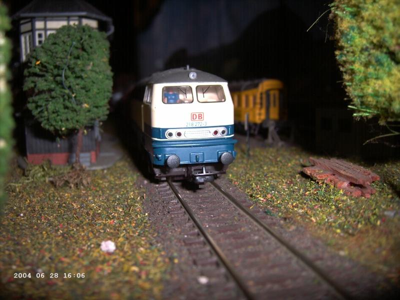 Piko H0 - Hobby-Lok BR 218 Blau-beige DB AG Pict1210