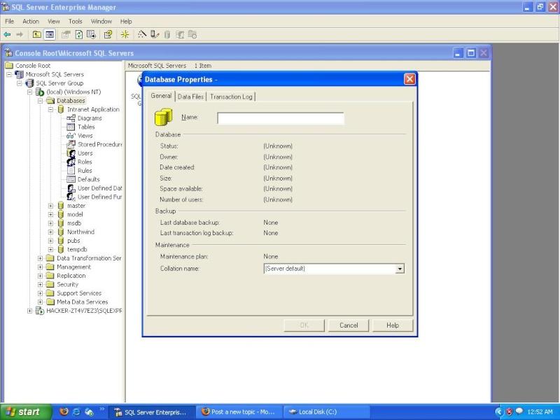 SQL SERVER 2000 Databa10