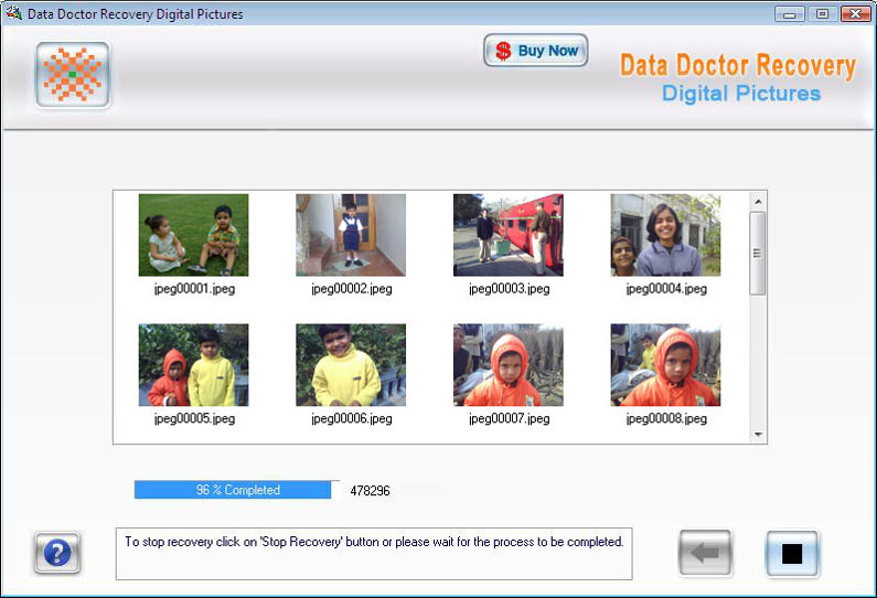 Digital pictures recovery software Digita10