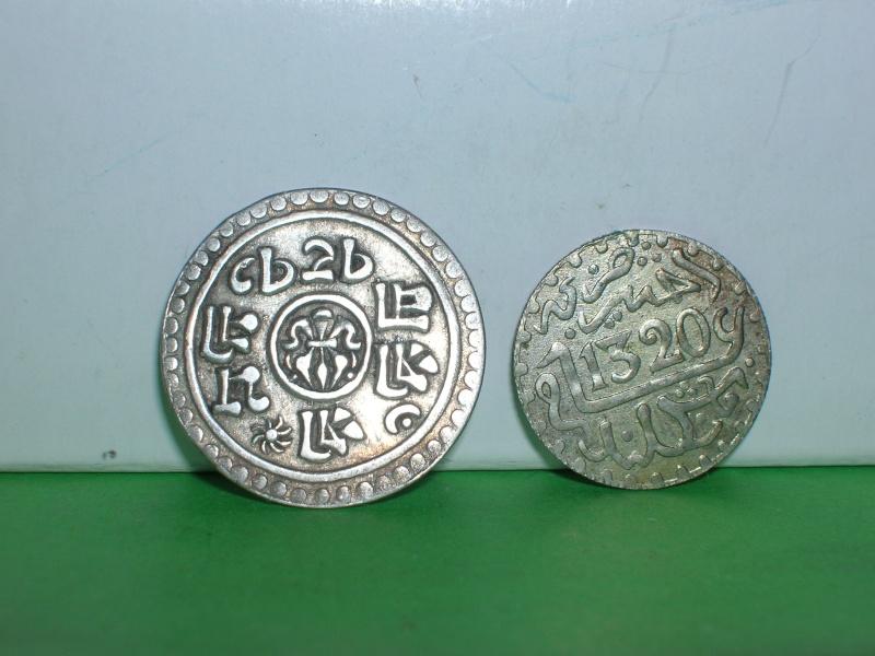 Nepal, 1/4 Mohar, 1905; Marruecos, 1 dirham, 1320 (Hégira) Dscn2210
