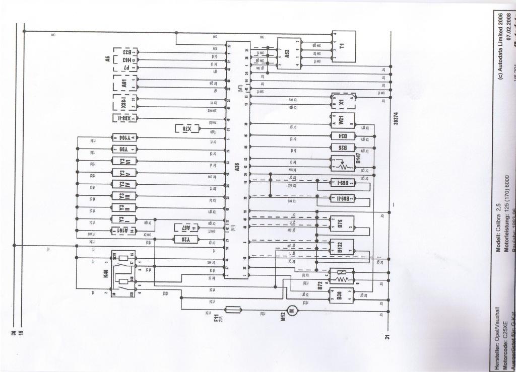 Schaltplan Motor C25XE Cci00010