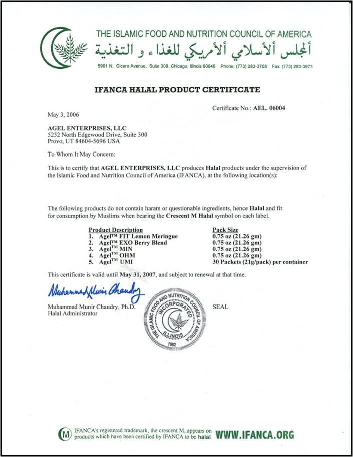 CERTIFICADO HALAL Halal10