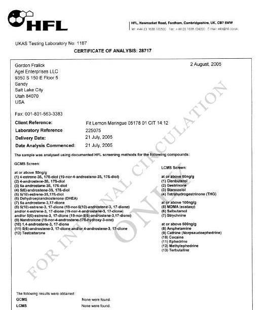CERTIFICADOS HFL Hfl20f10