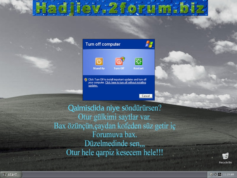 Kompyuterimin dili varmiş  :) 110