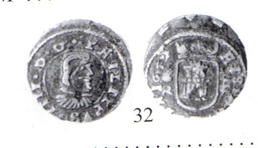 4 Maravedis de Felipe IV (Coruña, 1661 d.C) Cayon10
