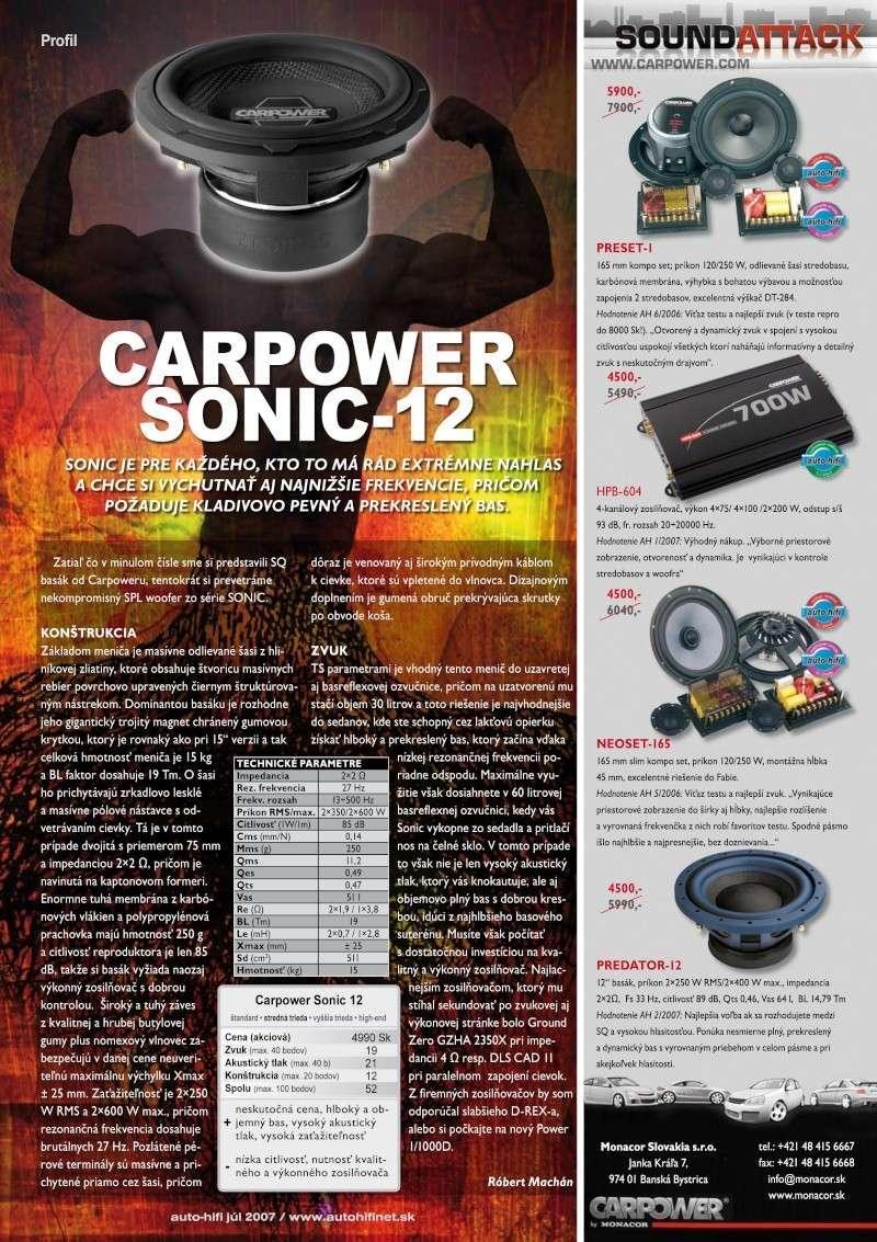 CARPOWER SONIC-12 205310