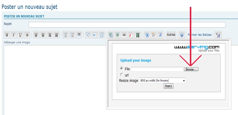 Comment insérer une image? Img410
