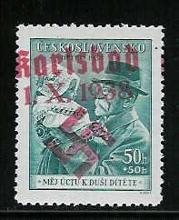 sudetenland - Einführung in das Gebiet Sudetenland-Briefmarken Karlsb18