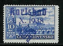 sudetenland - Einführung in das Gebiet Sudetenland-Briefmarken Karlsb19