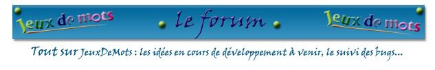 Forum de JeuxDeMots