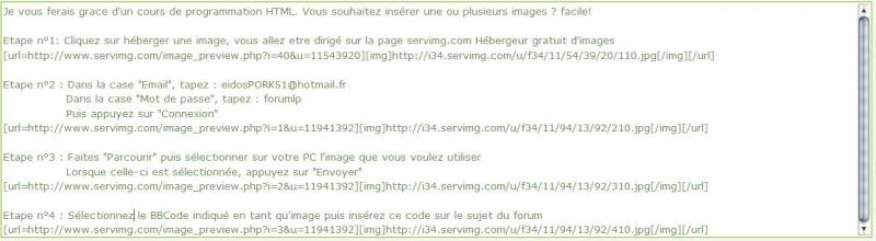 Comment insérer une image sur un forum 510