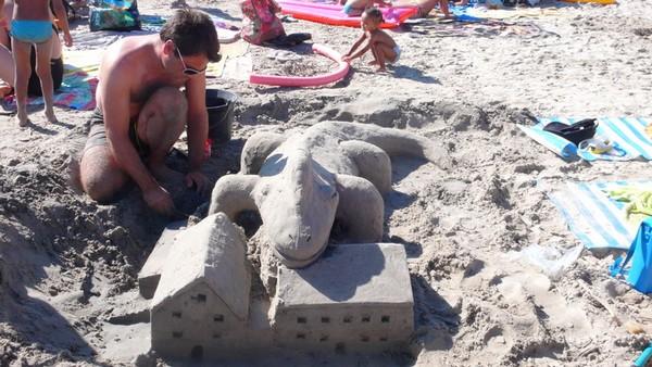 sculpture en  sable de mer 31a10