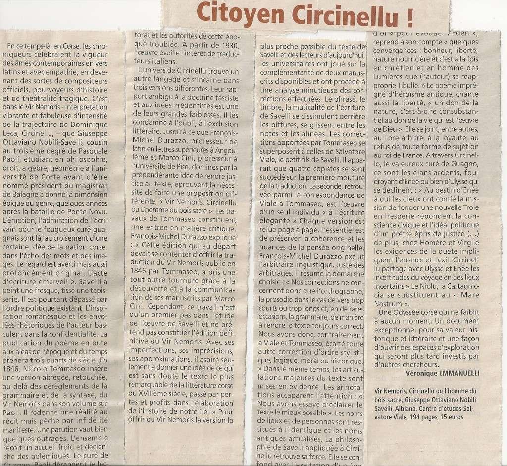 """Un article sur le """"Vir Nemoris"""" dans Corse matin Scan0010"""