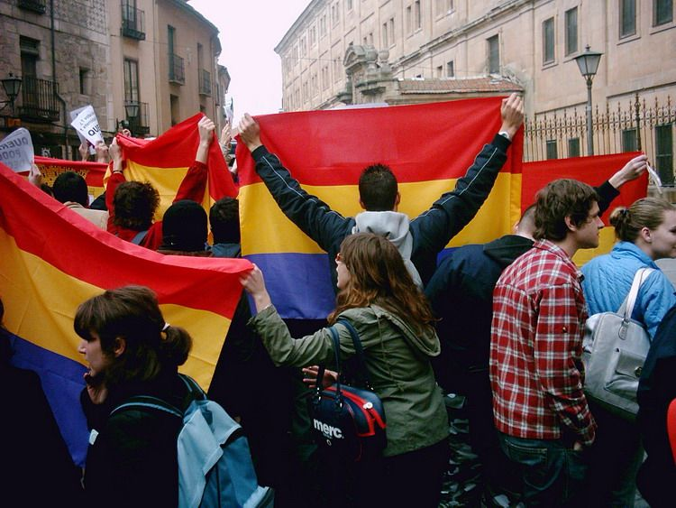 Banderas republicanas en Salamanca para recibir a los Prínci Untitl12