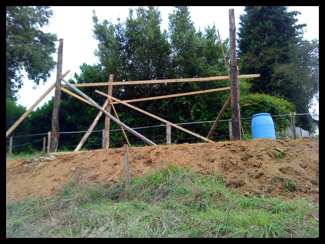 Construction d'un abri pour chevaux Dsc01411