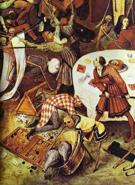 El triunfo de la muerte y la peste negra. 438px-10