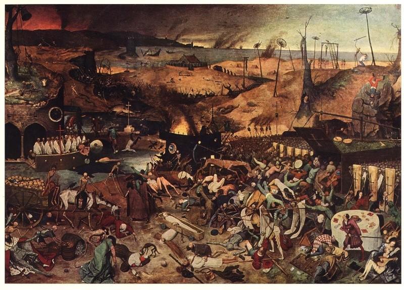 El triunfo de la muerte y la peste negra. Pieter10