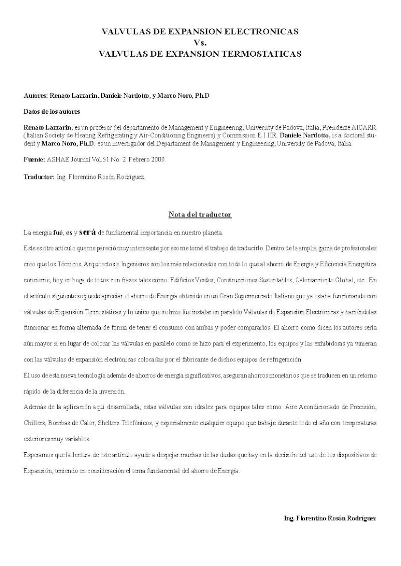 Válvula de Expansión Electrónica vs. Expansión Termostática. Pag_118