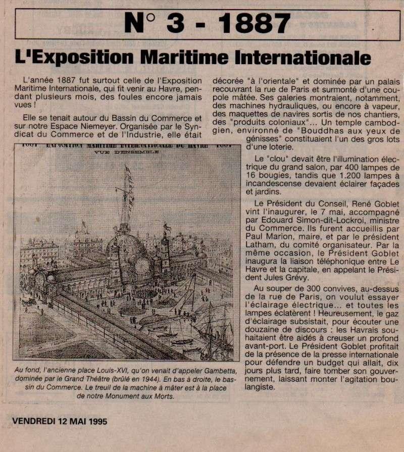 1887 - Canal Tancarville, Bassin Bellot, Exposition, Passerelle, St-Léon ... 188710