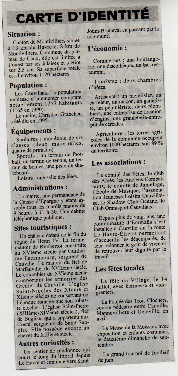 Histoire des communes - Cauville-sur-Mer Cauvil11