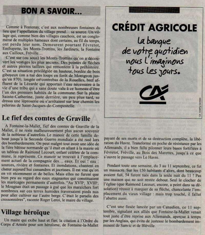 Histoire des communes - Fontaine-la-Mallet Fontai10