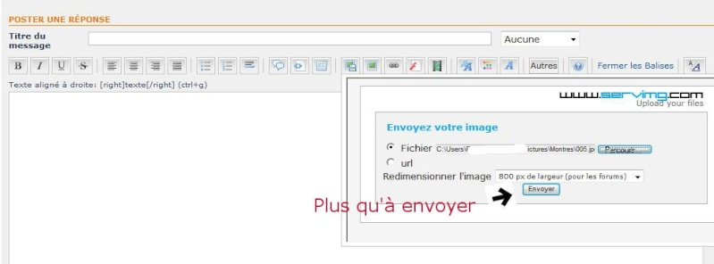 Tutorial pour poster des photos sur le forum Captur12