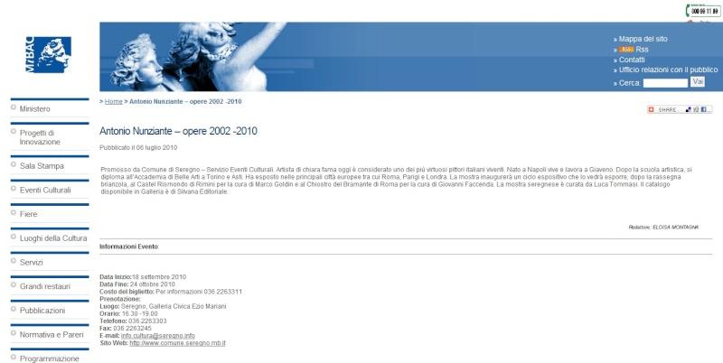 NOTIZIA IN ANTEPRIMA! SETTEMBRE 2010 MOSTRA A SEREGNO 2010se10