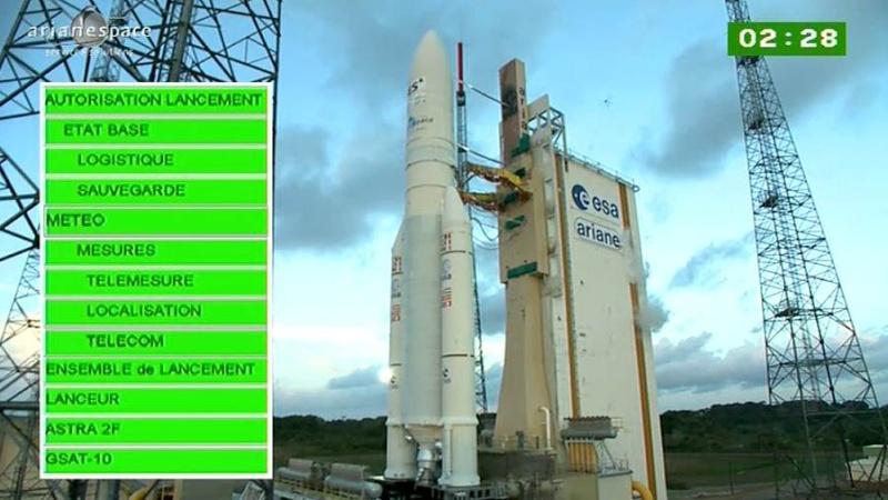 Lancement Ariane 5 ECA VA209 / Astra 2F + GSat 10 -28 septembre 2012 - Page 2 Capt_h46