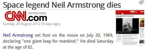 Bétises de Journalistes sur la disparition de Neil Armstrong Cnn10