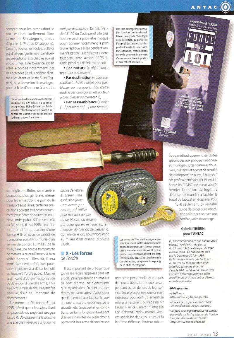 Législation port d'armes et d'objets dangereux par pays Numari12