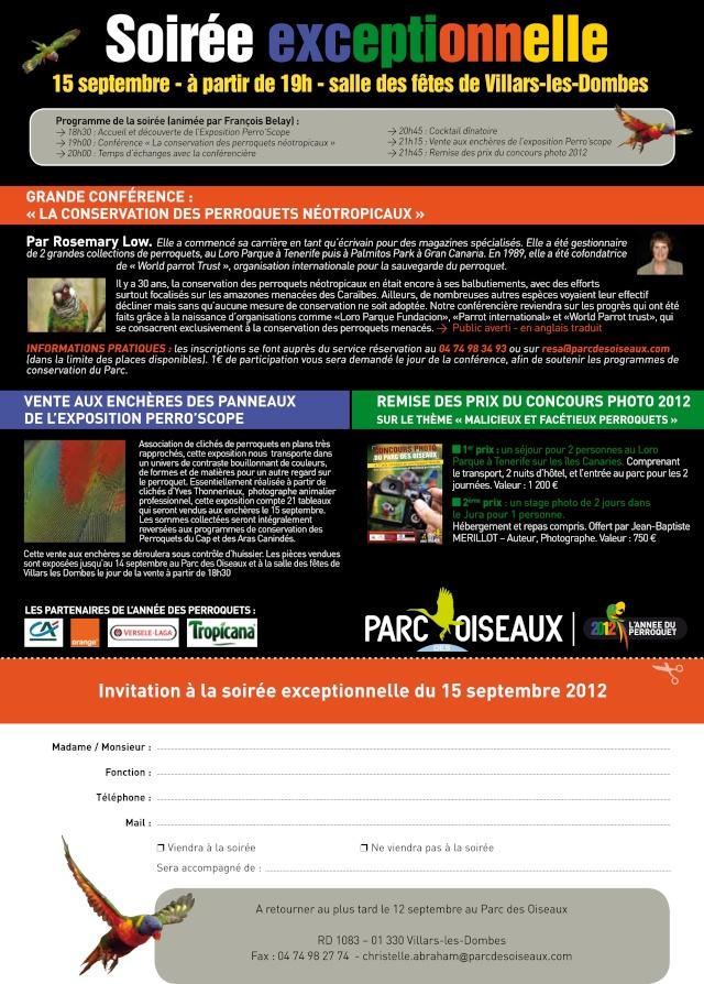 Conférence au PARC des OISEAUX de VILLARS les DOMBES Invita14