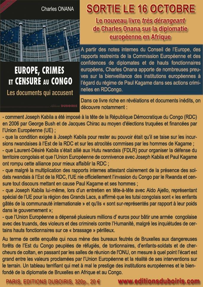 EUROPE, CRIMES ET CENSURE AU CONGO, le nouveau livre très dérangeant de Charles Onana ! Downlo12